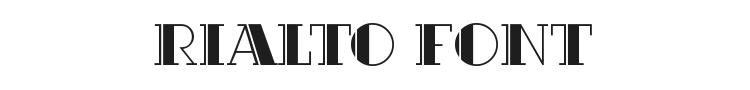 Rialto Font Preview
