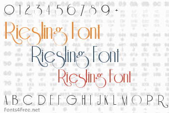 Riesling Font