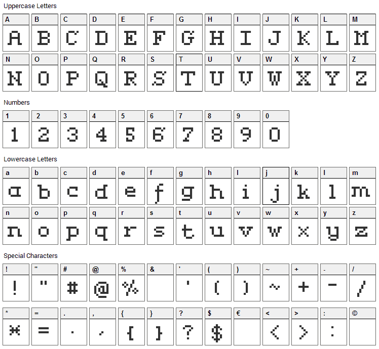 Rififi Serif Font Character Map