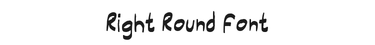 Right Round Font Preview