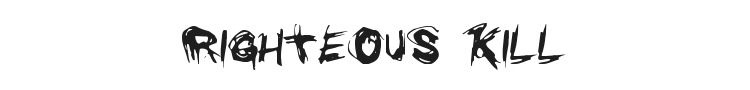 Righteous Kill Font Preview