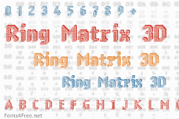 Ring Matrix 3D Font