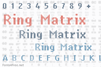 Ring Matrix Font