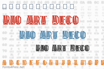Rio Art Deco Font