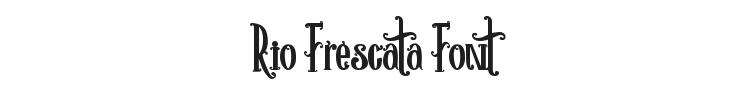 Rio Frescata Font