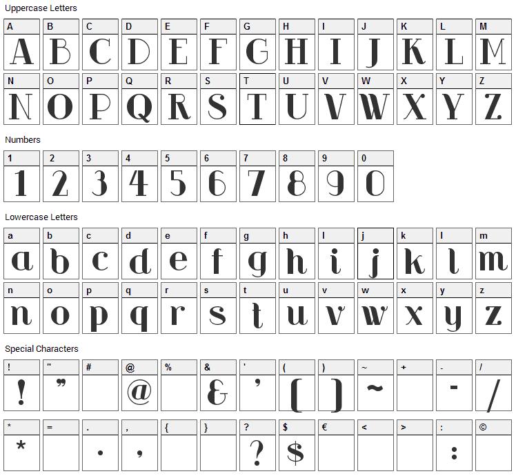 RiotSquad Font Character Map