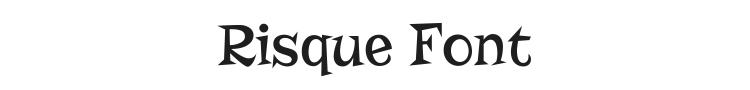 Risque Font