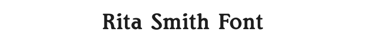 Rita Smith Font Preview
