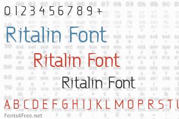 Ritalin Font