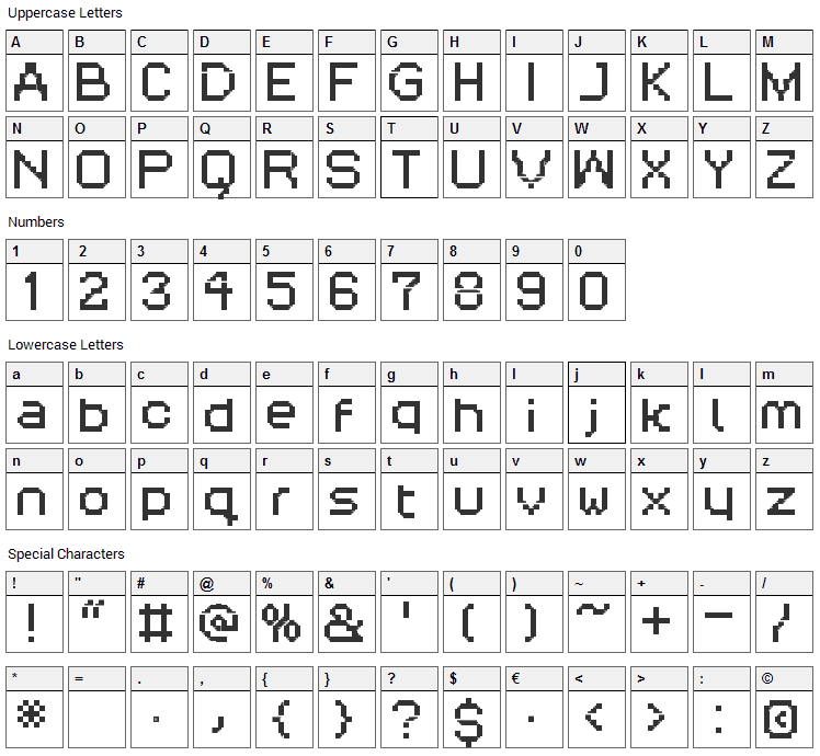 Rittswood Three Oranges Font Character Map
