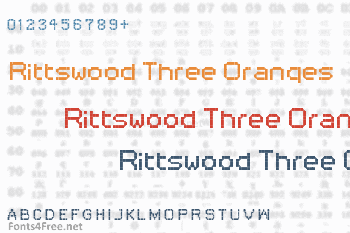 Rittswood Three Oranges Font