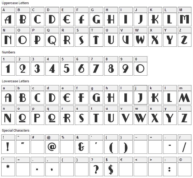 Ritzy Remix Font Character Map