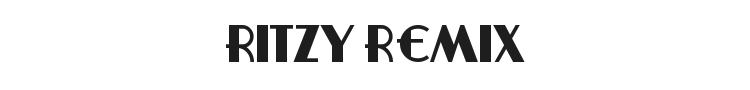 Ritzy Remix Font Preview