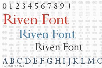 Riven Font