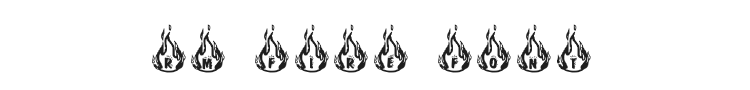 RM Fire Font Preview