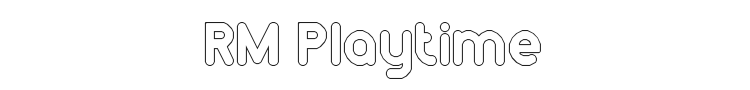 RM Playtime Font Preview