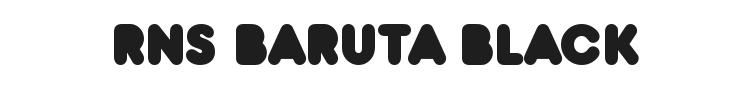 RNS Baruta Black Font Preview