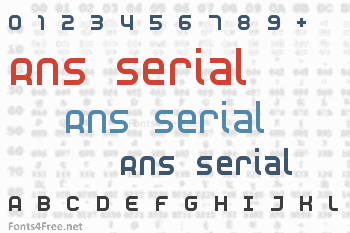 RNS Serial Font