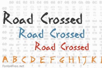 Road Crossed Font