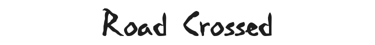 Road Crossed Font Preview