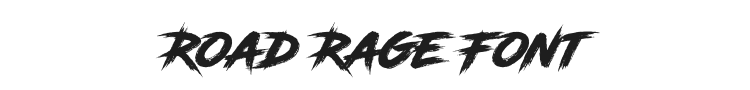 Road Rage Font Preview