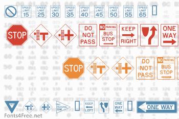 Road Signs Font