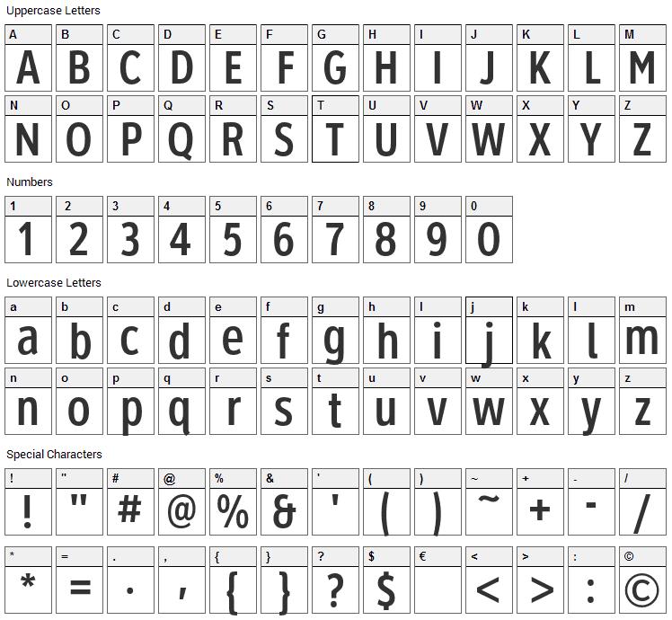 Roadgeek 2005 1B/2B/3B/4B/5B/6B Font Character Map