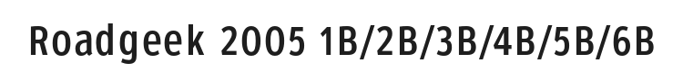 Roadgeek 2005 1B/2B/3B/4B/5B/6B Font