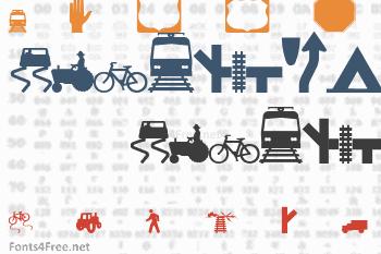 Roadgeek 2005 Icons Font