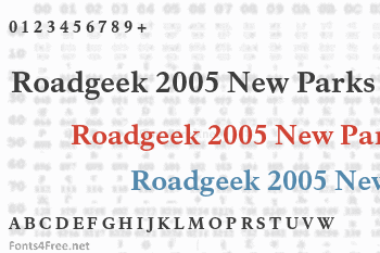 Roadgeek 2005 New Parks Font