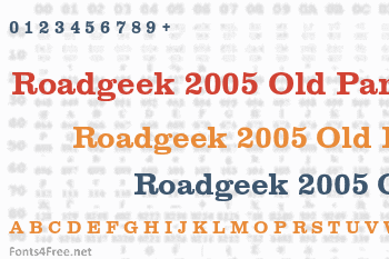 Roadgeek 2005 Old Parks Font