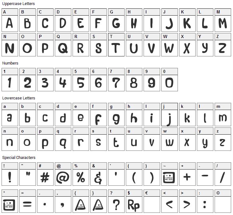 Roadshow IAIC 2013 Font Character Map