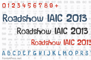 Roadshow IAIC 2013 Font