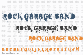Rock Garage Band Font