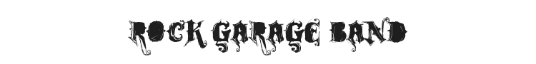 Rock Garage Band Font Preview