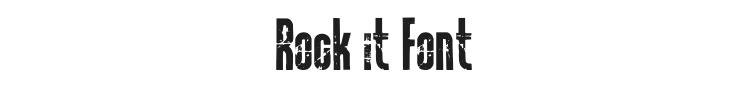 Rock it Font Preview