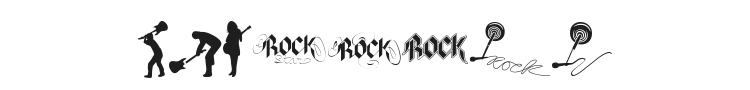 Rock Star Font Preview