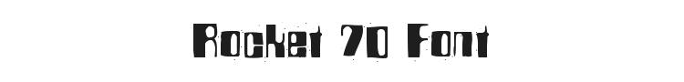 Rocket 70 Font Preview