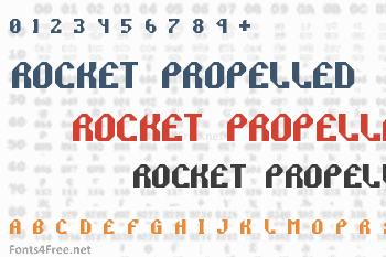 Rocket Propelled Font