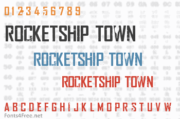 Rocketship Town Font