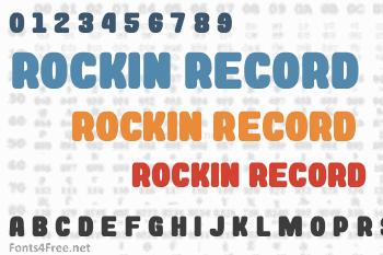 Rockin Record Font