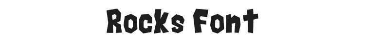 Rocks Font Preview