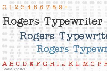 Rogers Typewriter Font