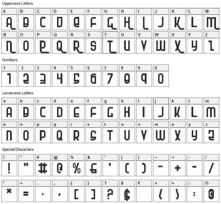 RoKiKier Font Character Map