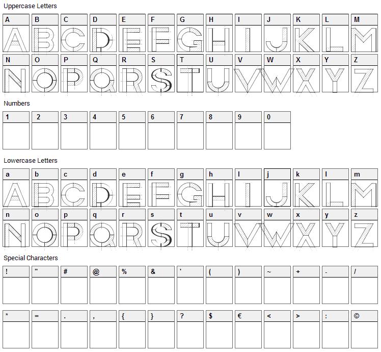 RollandinEmilie Font Character Map