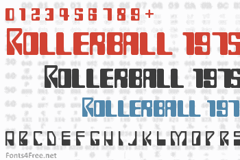 Rollerball 1975 Font