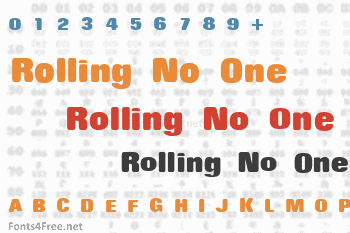 Rolling No One Font
