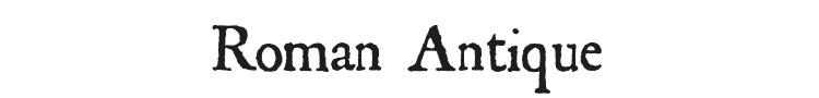 Roman Antique Font Preview