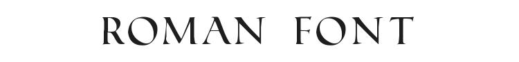 Roman Font Preview