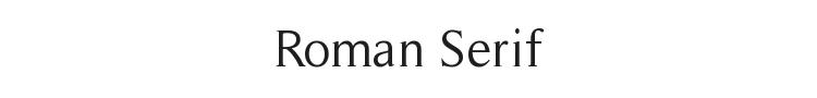 Roman Serif Font Preview